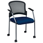 Pro-Line II Stacking Visitors Chair with Dual Wheel Carpet Casters