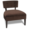 Avenue Six Curves Chocolate Button Back Chair