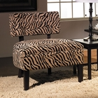 Avenue Six Curves Button Back Chair in Simba