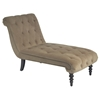Curves Tufted Chaise - Coffee