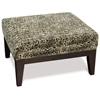 Avenue Six Glen Small Ottoman in Tanzania Fabric