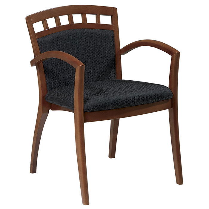 Mendocino Crown Back Guest Chair in Satin Cherry Finish (Set of 2) - OSP-MEN-942-CHY