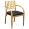 Mendocino Maple Finished Wood Grid Back Guest Chair (Set of 2) - OSP-MEN-982-MPL