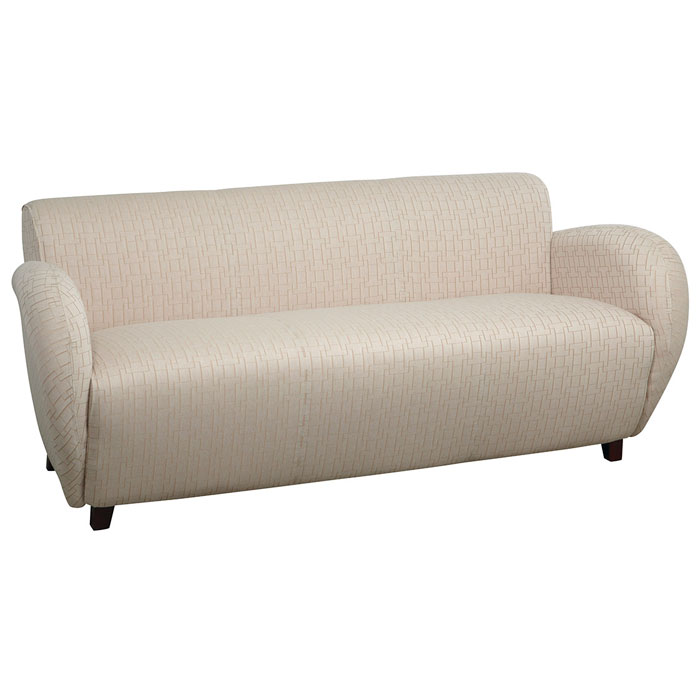 Sofa with Wide Curved Arms