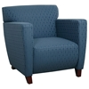 Contemporary Club Chair with Cherry Finished Feet