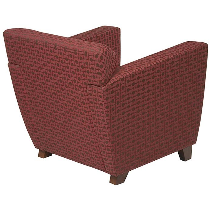 Contemporary Club Chair with Cherry Finished Feet - OSP-SF8471