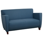 Custom Fabric Loveseat with Wide Track Arms