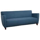 Contemporary Fabric Sofa with Cherry Finished Feet