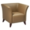 Taupe Leather Flared Arm Club Chair - OSP-SL1871