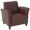 Breeze Eco-Leather Club Chair with Cherry Finished Feet - OSP-SL2271EC
