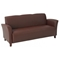 Breeze Contemporary Eco-Leather Sofa with Cherry Finished Feet - OSP-SL2273EC