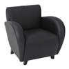 Eleganza Black Eco-Leather Club Chair