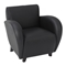 Eleganza Black Eco-Leather Club Chair - OSP-SL2431EC3