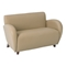 Eleganza Curved Arms Loveseat in Taupe Eco-Leather - OSP-SL2472EC11