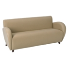 Eleganza Taupe Sofa with Cherry Finished Feet
