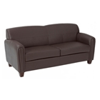 Pillar Contemporary Sofa with Wood Feet