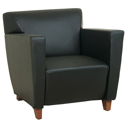 Track Arms Leather Club Chair - OSP-SL8X71