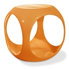 Avenue Six Slick Cube Orange Occasional Table
