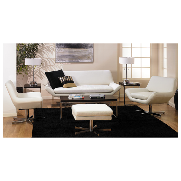 Avenue Six Yield White 72'' Loveseat - OSP-YLD5372-W32