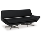 Avenue Six Yield Black 72 Loveseat