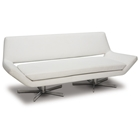 Avenue Six Yield White 72 Loveseat