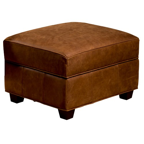 Marbella Contemporary Storage Ottoman - Valley Toffee Leather - OHF-420-06VALTOF