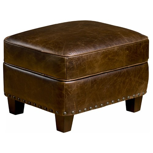 Bradford II Storage Ottoman - Coventry Brown Leather