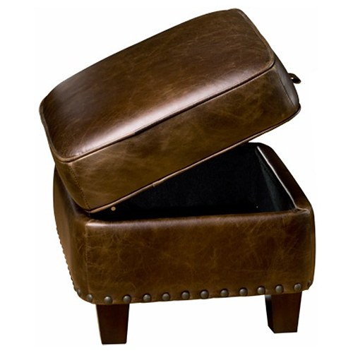 Bradford II Storage Ottoman - Coventry Brown Leather - OHF-2530-06COVBRW