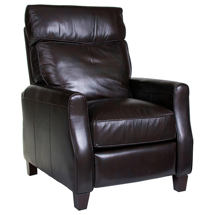 Venice 3 Piece Home Theater Seating - Baron Chocolate Leather - OHF-8900-22BARCHC