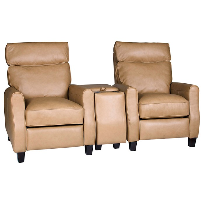 Venice 3 Piece Home Theater Seating - Baron Taupe Leather