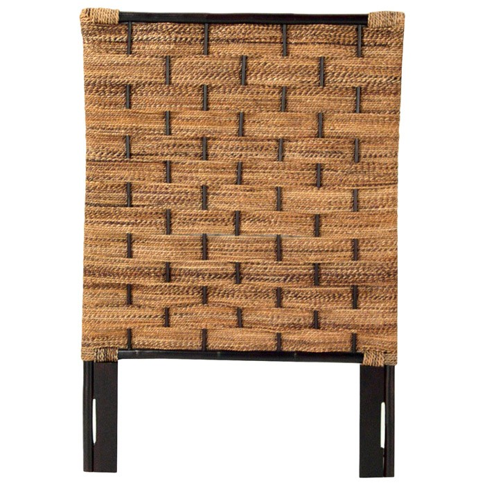 Abaca Weave Headboard - Rattan Accents - PAD-AWHB02