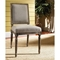 Bluff Point Dining Chair - Sand Linen, Burnt Driftwood Finish - PAD-BLU12-C41
