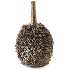 Fuzzy Wooden Vase - Tall