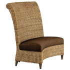 Bayside Dining Settee - Roll Back, Cushion, Abaca Weave