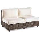 Loft Loveseat - Abaca Twist, White Fabric Cushions