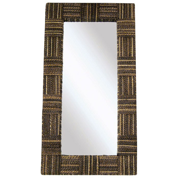 Loft Rectangular Mirror - Abaca Twist Frame