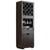 Modulare Wooden Wine Storage Tower - Dark Mahogany