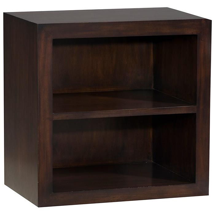 Modulare Wooden 2-Shelf Bookcase - Dark Mahogany