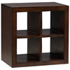 Modulare Wooden Open Back Quad Shelf - Dark Mahogany