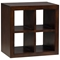 Modulare Wooden Open Back Quad Shelf - Dark Mahogany - PAD-MOD03-2SIDE-DK