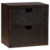 Modulare Wooden 2-Drawer Storage - Dark Mahogany