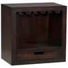 Modulare Wooden Wine Glass Shelf - Dark Mahogany