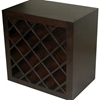 Modulare Wooden Wine Bottle Storage - Dark Mahogany