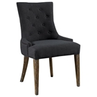 Myrtle Beach Dining Chair - Button Tufts, Charcoal Linen