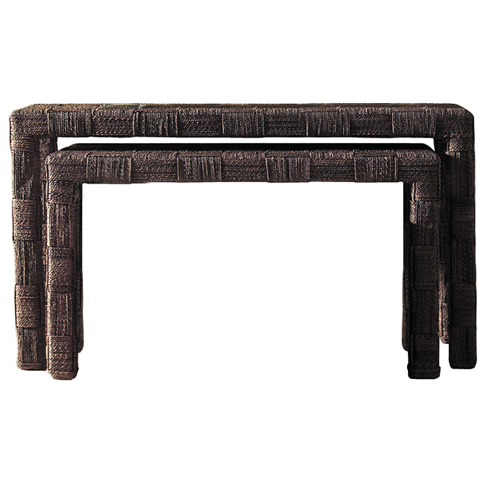 Nesting Console Tables Set - Abaca Twist - PAD-NES07-ABS