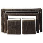 Nesting Console Table and Ottoman Set - Abaca Twist