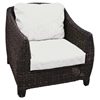 Outdoor Bay Harbor Wicker Lounge Chair - Fabric Cushion