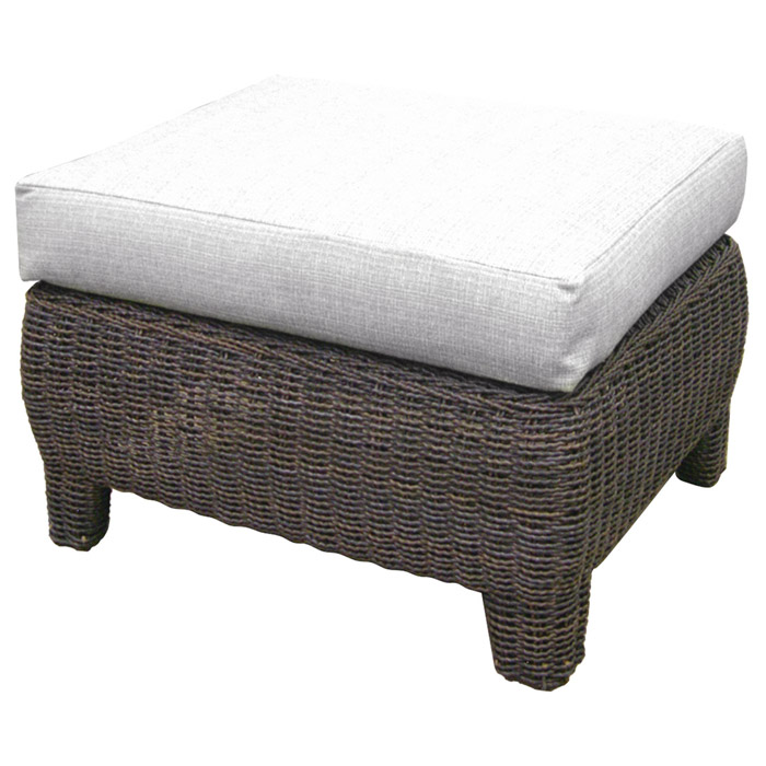 Outdoor Bay Harbor Wicker Ottoman - Fabric Cushion - PAD-OL-BAH02