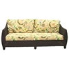 Outdoor Bay Harbor Wicker Sofa - Fabric Cushion