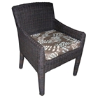 Outdoor Bay Harbor Wicker Dining Armchair - Fabric Cushion